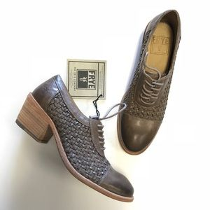 Frye Quilted Oxfords Smokey Taupe